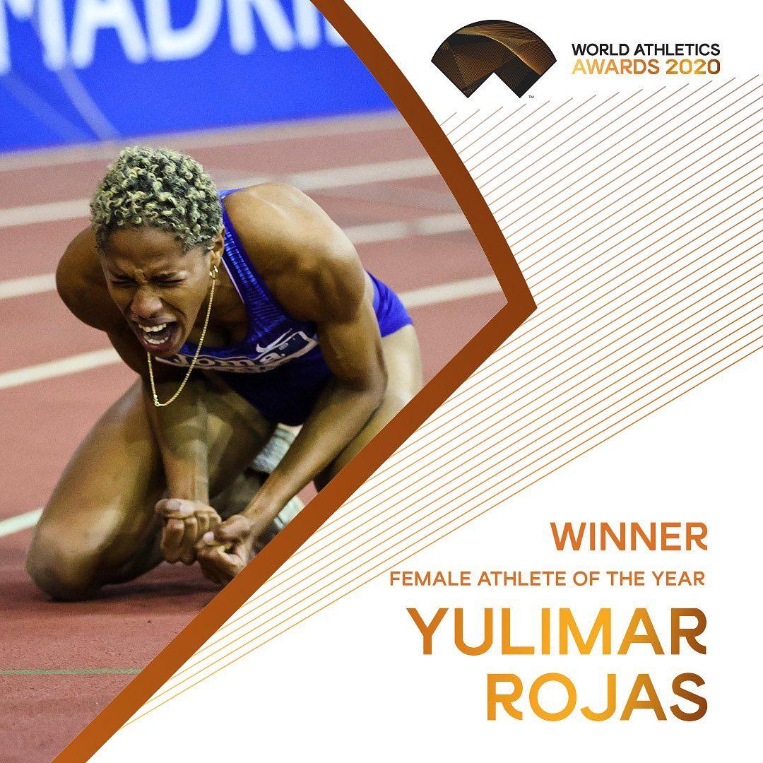 Yulimar Rojas nombrada la mejor Atleta del mundo del año 2020