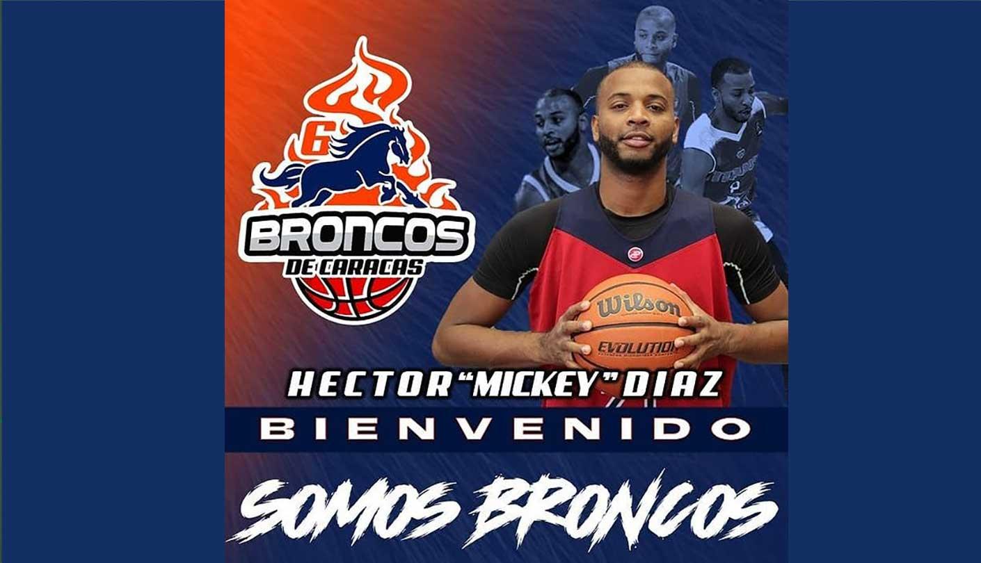 "Héctor ""Mickey"" Díaz se suma a Broncos de Caracas"