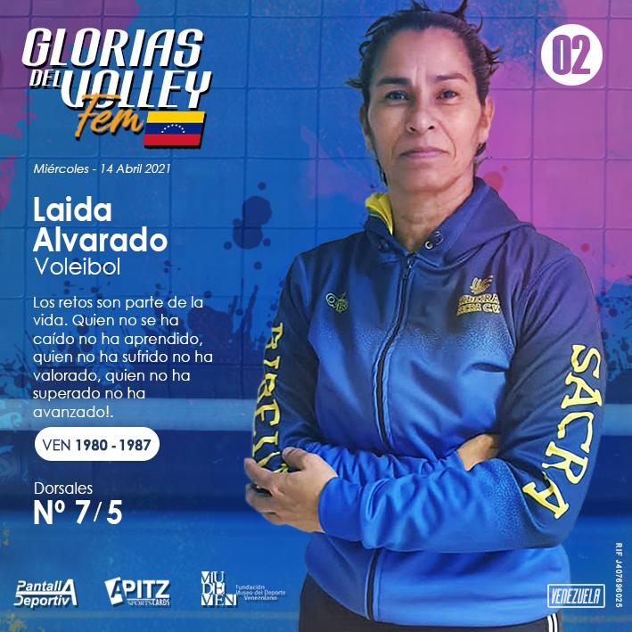 Glorias del Volley Femenino: Laida Alvarado