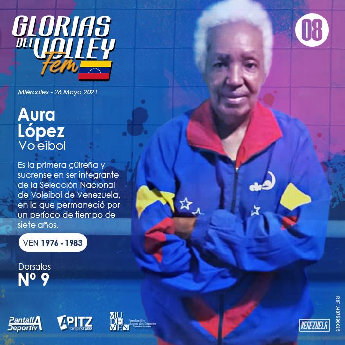 Glorias del Volley Femenino: Aura López