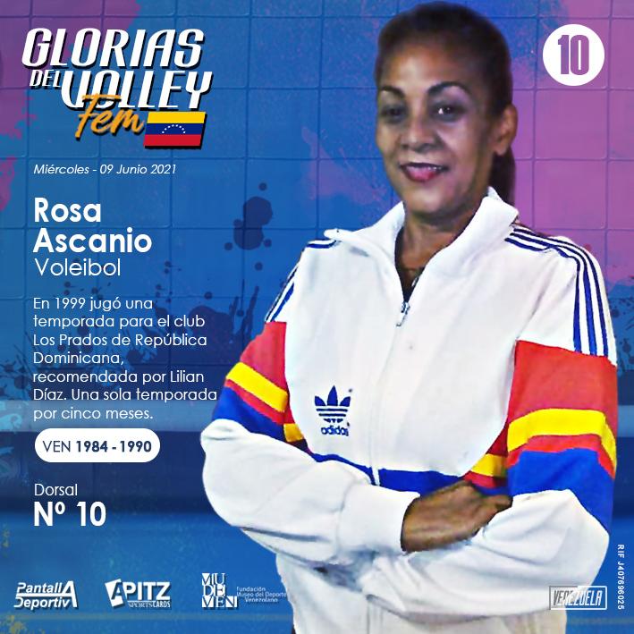 Glorias del Volley Femenino: Rosa Ascanio