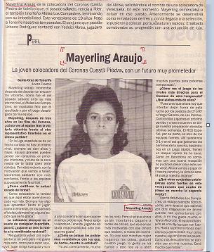 Glorias del Volley Femenino: Mayerling Araujo