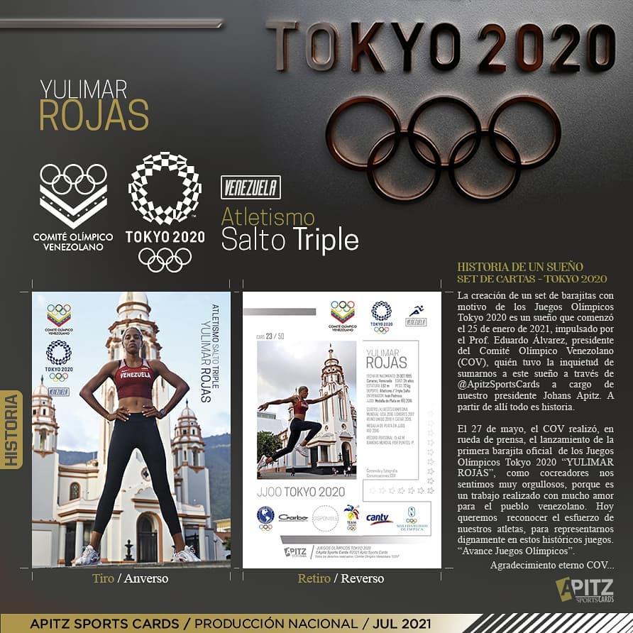 El COV y Apitz Sports Cards se unen para lanzar barajitas coleccionables de Tokio 2020
