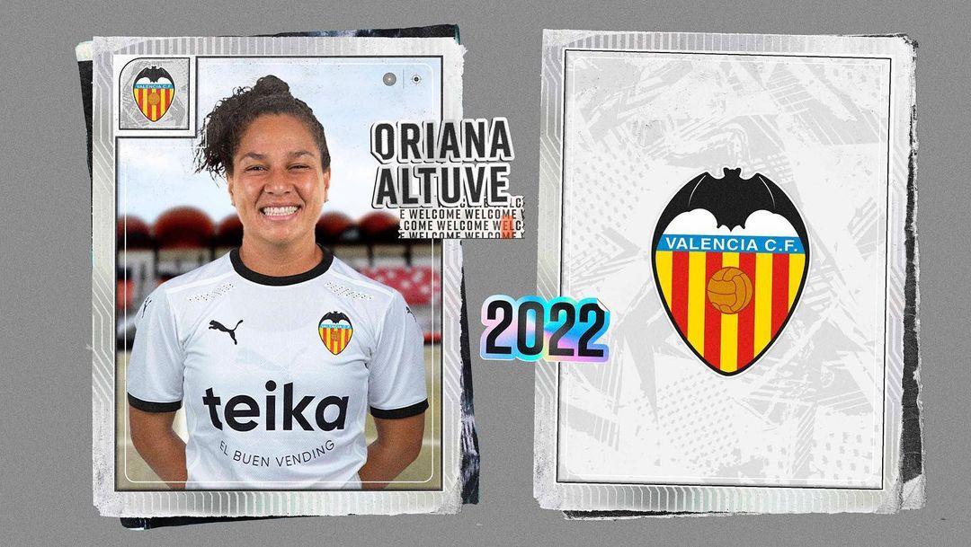 Oriana Altuve jugará con el Valencia CF