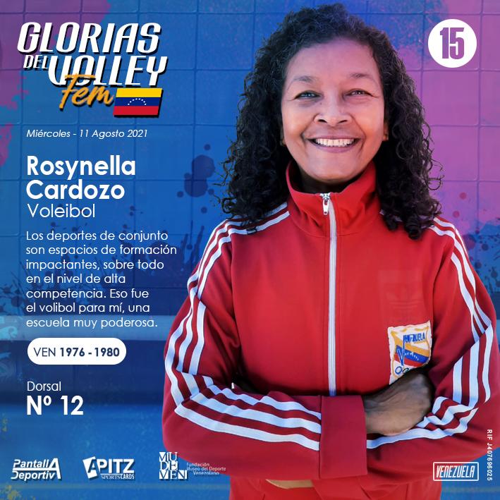 Glorias del Volley Femenino: Rosynella Cardozo