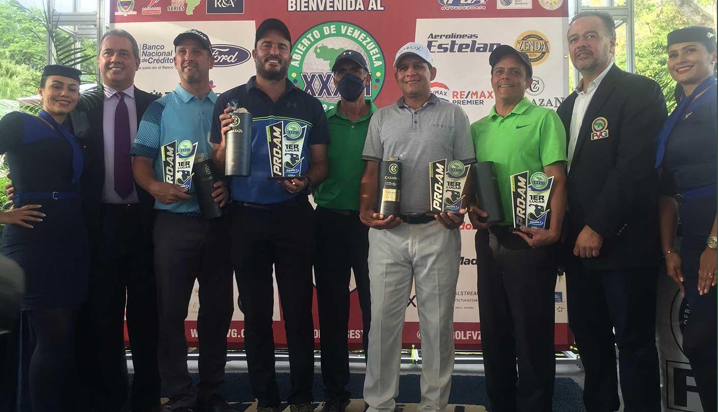 Equipo de Richard Rojas campeón del ProAm del Abierto de Venezuela de Golf