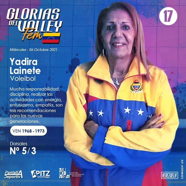 Glorias del Volley Femenino: Yadira Lainette